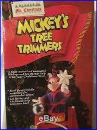 mr christmas mickey mouse tree trimmers animated disney characters