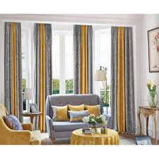 Yellow Gray Curtains Modern Curtains Modern Window Treatments Contemporary Curtains
