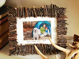 Handmade Home Decor Projects by Handmade Photo Frame Made From Simple Natural Materials That Can