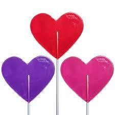 medium heart lollipops by melville candy