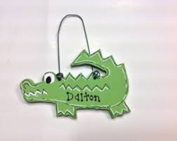 alligator ornament etsy