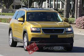 volkswagen suv 2016 spied is this a three row volkswagen suv with barely anything on