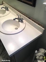 How To Change Bathroom Vanity How To Remove An Bathroom Vanity Thrift Diving