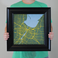 Green Bay Wisconsin Map by Green Bay Wisconsin Map Art City Prints
