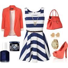 Nautical Theme Fashion - blue and coral dream closet pinterest coral blazer i love