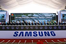 A Construction China And Semiconductors Samsung To Flash Memory Output Capacity In China Nikkei