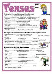 english worksheet tenses random thoughts pinterest