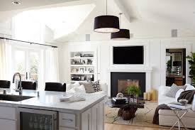Fireplace Side Cabinets by Seattle Granite Fireplace Surround Living Room Transitional With