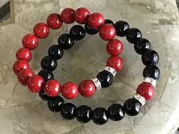 bead bracelet design images His hers black red beads bracelets designs by siri jpg