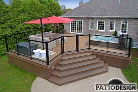 jacuzzi bois exterieur pour terrasse conception fabrication et installation de patio autour d u0027un spa