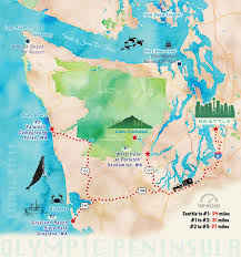 Washington State Road Map by Olympic Peninsula Just 5 More Minutes