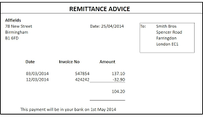 12 remittance templates excel pdf formats