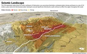 map of nepal and india 5 maps of nepal s earthquake zone briefly wsj