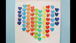 diy home decor idea simple paper craft heart decors in