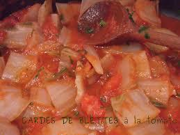 cuisiner des cardes cardes de blettes à la tomate ww flagrants delices by