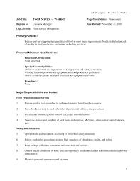 Customer Representative Resume Sample Food Service Resume Free Resume Example And Writing Download