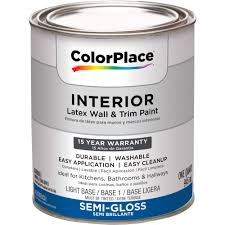 colorplace interior semi gloss light base paint 1 qt walmart com