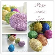 glitter easter eggs sew and the city glitter easter eggs