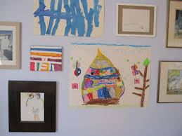 our house of color hanging children u0027s art around the home