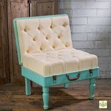 display side chair shabby chic padded suitcase display