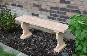 Handmade Outdoor Furniture by Adorable Handmade Diy Garden Bench From Solid Wood For Garden