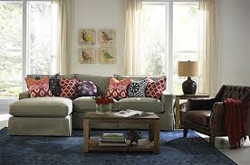 Fabric Living Room Chairs Leather With Fabric Furniture Emeryn