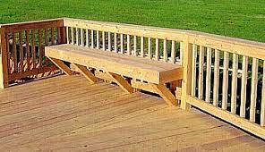 Deck Bench Bracket Deck Benches Estate Buildings Information Portal