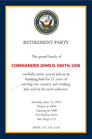 military retirement invitations template resume