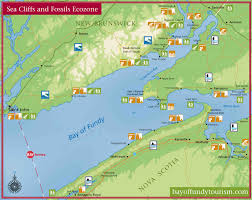 map of ta bay sea cliffs and fossils bay of fundy
