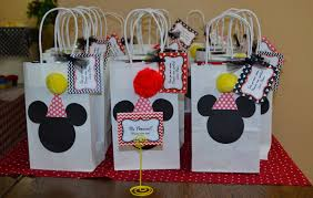mickey mouse favor bags smith stories let s party mickey mouse clubhouse style