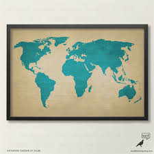 rustic world map poster vintage map of the world printed