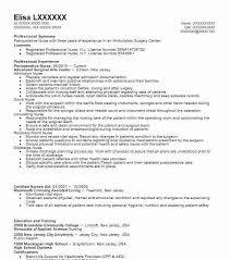 Resume Of A Registered Nurse Best Perioperative Nurse Resume Example Livecareer
