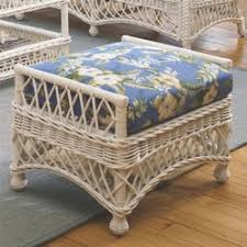 cushioned foot stools indoor wicker ottomans