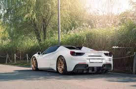 ferrari gold a ferrari 488 gtb with manbronze adv 1 wheels my car portal