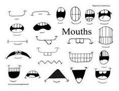 hand draw cartoon mouth icon painting personalities pinterest