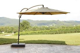 Offset Patio Umbrella With Base Garden Oasis Offset Umbrella 10ft Outdoor Living Patio