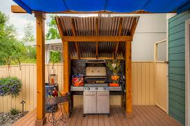 Awnings For Decks Ideas Outside Grill Ideas Deck Transitional With Barbecue Bbq Blue
