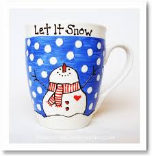 Decorating Porcelain Mugs Easy Homemade Gift Ideas Painted Coffee Mug