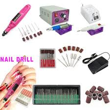 2017 factory wholesale 6 bits electric beauty nail art file drill