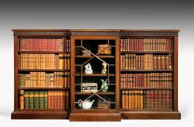 Break Front Bookcase Late 19th Century Mahogany Low Breakfront Bookcase C 1895 To C