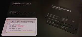 Lawyers Business Cards Addison Cameron Huff U0027s Blog