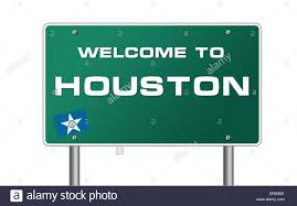 Flags Houston Welcome To Houston Texas Flag Road Sign Illustration Stock Photo