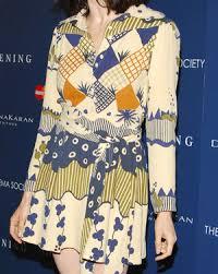 ossie clark ossie clark vintage longsleeve printed dress who