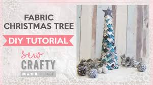fabric christmas tree tutorial fun no sew project youtube