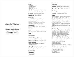 wedding church program template beautiful catholic wedding mass program gallery style and ideas
