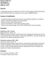Unix Resume Job by Example Statistician Resume Http Resumesdesign Com Example
