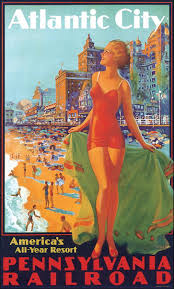 Pennsylvania travel to work images Atlantic city by pennsylvania railroad art work by edward m jpg
