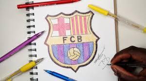 sketch sunday 9 how to draw the fc barcelona logo demoose art