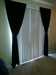 interior modern striped patterned blackout curtain panel with