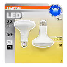 Sylvania Light Sylvania 65w Equivalent Led Br30 Lamp Light Bulb 2 Pk Soft